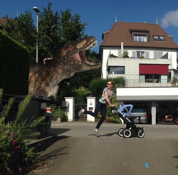 dinosaur-stroller